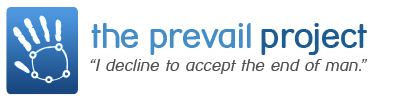 The Prevail Project homepage